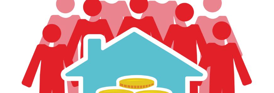 Un groupe de personnes investissent dans l'immobilier