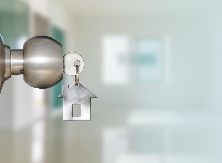 Poignée de porte et une clé